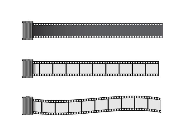 Icona 3d del rullo della striscia di pellicola