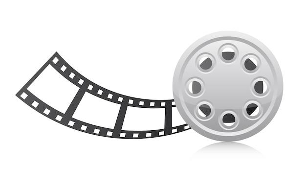 Striscia di pellicola sopra illustrazione vettoriale sfondo bianco