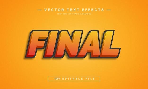 Effetto di testo modificabile 3d finale