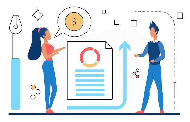 Analisi finanziaria successo lavoro di squadra crescita finanziaria uomini d'affari che analizzano grafici