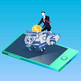 Illustrazione di successo di affari e finanza