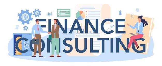 Intestazione tipografica di consulenza finanziaria.