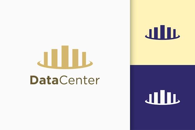 Diagramma finanziario o logo della statistica dei dati in forma semplice e moderna
