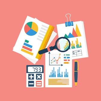 Illustrazione di contabilità finanziaria, vista dall'alto