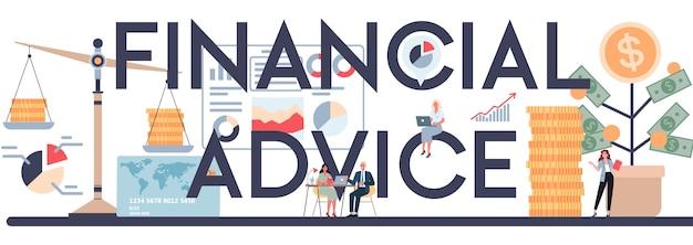 Intestazione tipografica di consulenza finanziaria