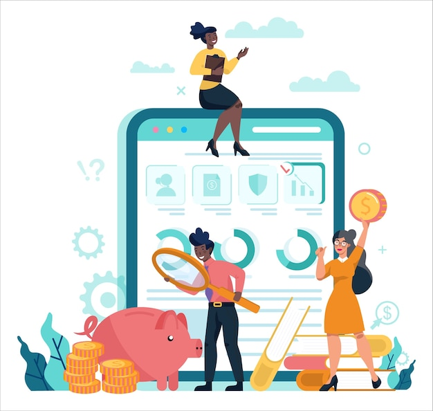 Servizio o piattaforma online di consulente finanziario o finanziatore