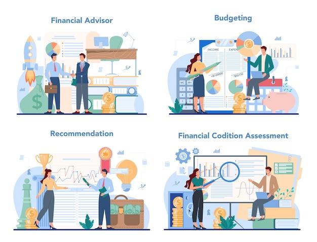 Illustrazione stabilita del consulente finanziario