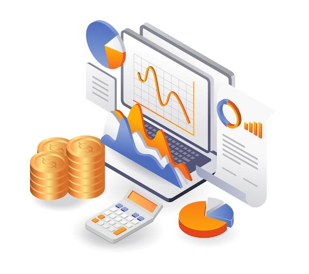 Dati di analisi finanziaria sui risultati delle attività di investimento