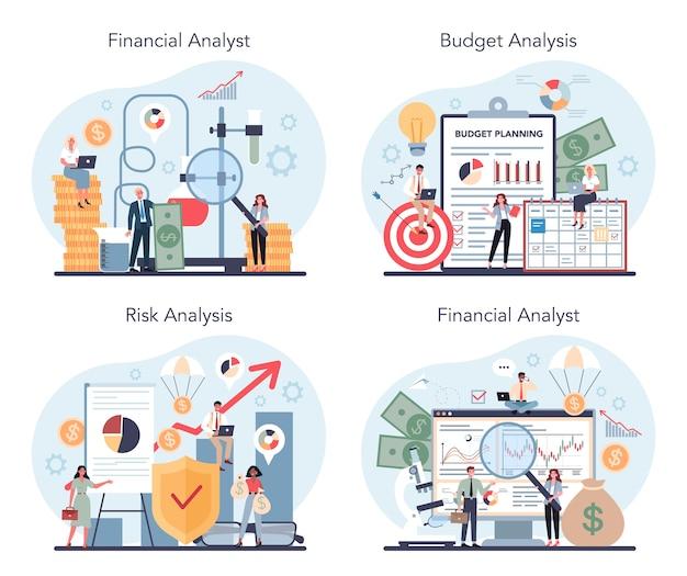 Analista finanziario o set di consulenti