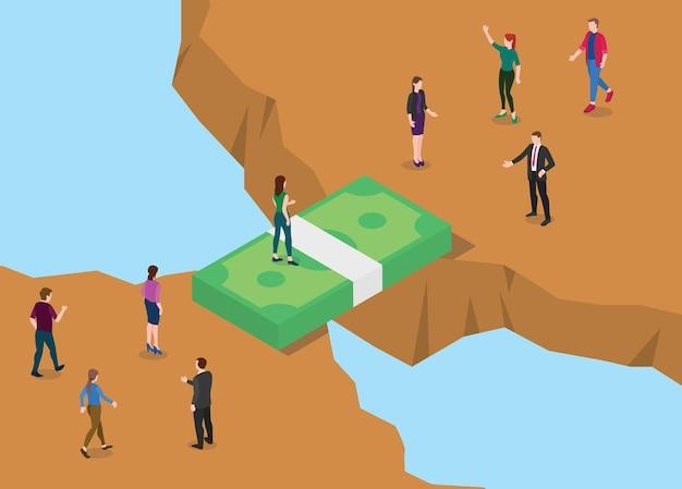 Concetto di ponte finanziario