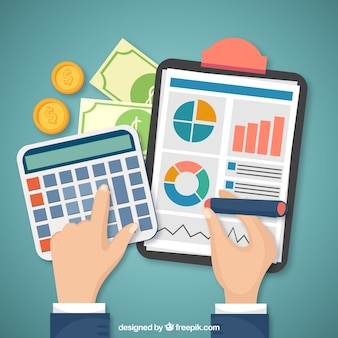 Concetto finanziario con elementi classici