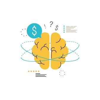 Consulenza finanziaria, orientamento finanziario, consulente aziendale, assistenza agli investimenti, disegno di illustrazione vettoriale di gestione del denaro per la grafica mobile e web