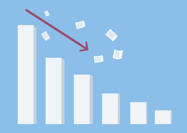 Illustrazione piana di concetto di crisi finanziaria