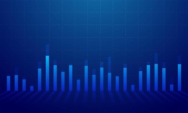 Grafico grafico dei dati finanziari, illustrazione vettoriale