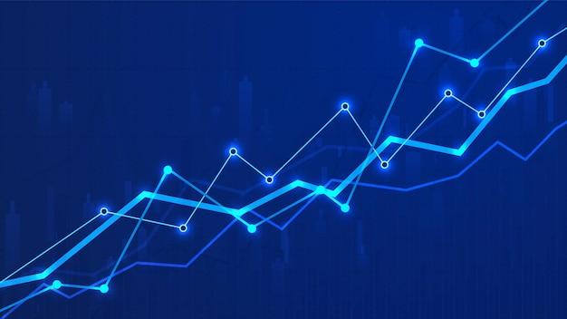 Illustrazione di analisi dei dati aziendali grafico grafico finanziario