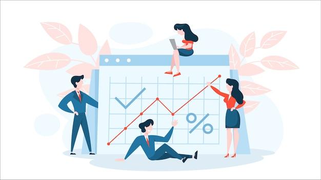 Concetto di aumento finanziario. idea di crescita del denaro
