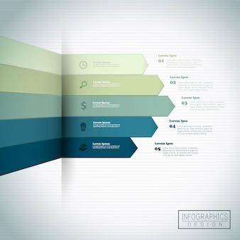 Modello di infografica finanziaria con elemento statistico