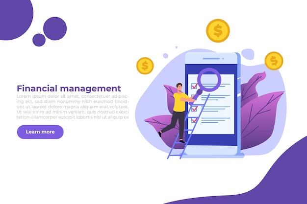 Banner di gestione finanziaria