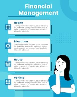 Modello di infografica gestione finanziaria