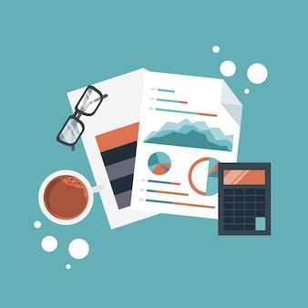 Illustrazione di pianificazione e sviluppo finanziario