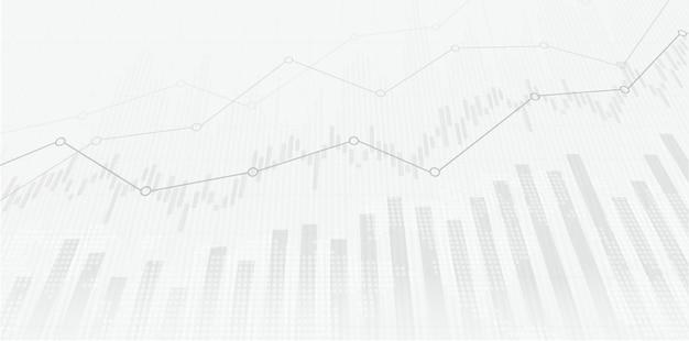 Grafico del mercato azionario finanziario sul trading di investimenti in borsa punto rialzista punto ribassista