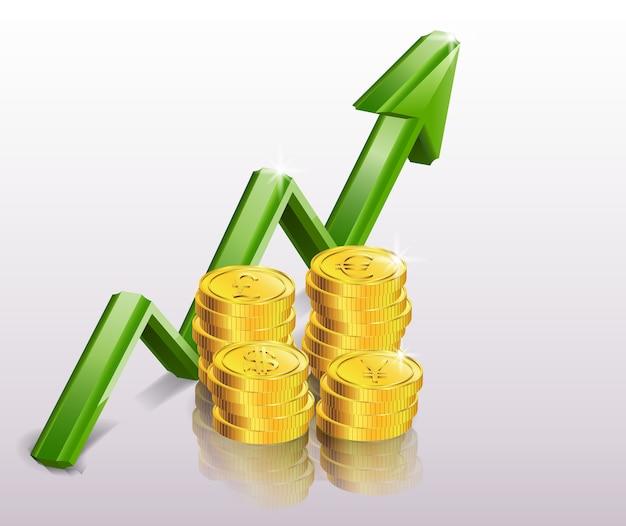 Concetto di successo finanziario