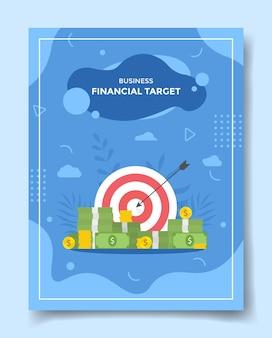 Freccia di precisione del concetto di obiettivo finanziario intorno al dollaro dei soldi