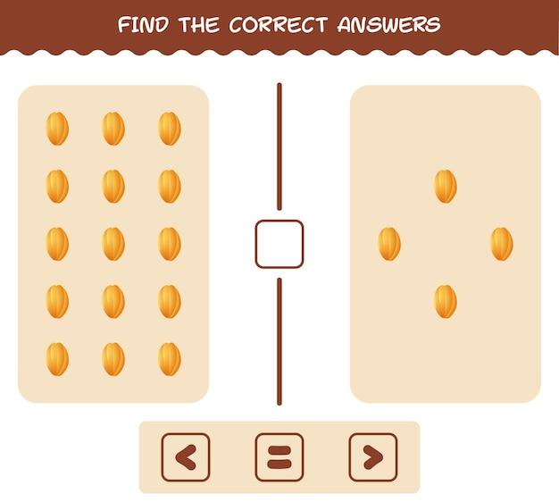 Trova le risposte corrette di carambola dei cartoni animati. ricerca e conteggio del gioco. gioco educativo per bambini e bambini in età prescolare