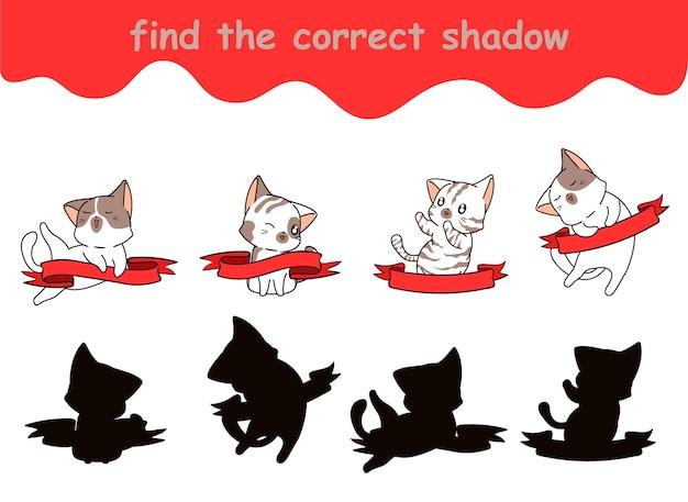 Trova l'ombra corretta del gatto con il banner
