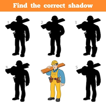 Trova l'ombra corretta, gioco educativo per bambini, builder