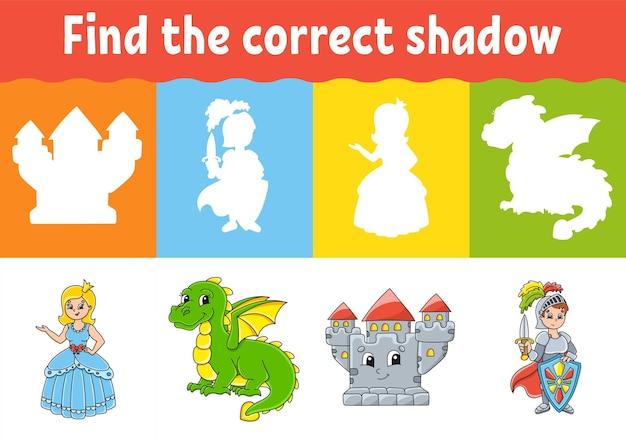 Trova il foglio di lavoro istruzione shadow corretto