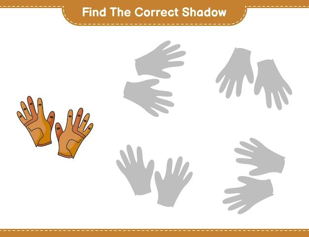 Trova l'ombra corretta gioco educativo per bambini