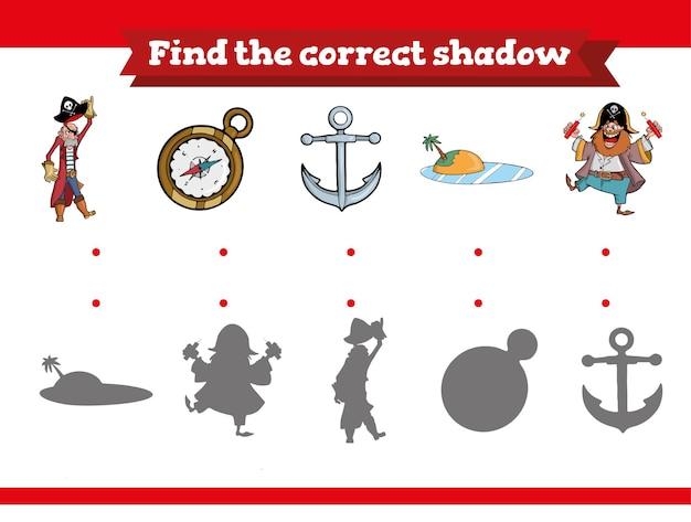 Trova il gioco educativo dell'ombra corretto per i bambini
