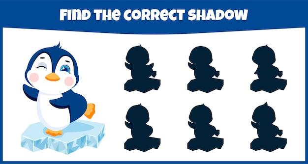 Trova il gioco educativo di corrispondenza delle ombre corretto per i bambini