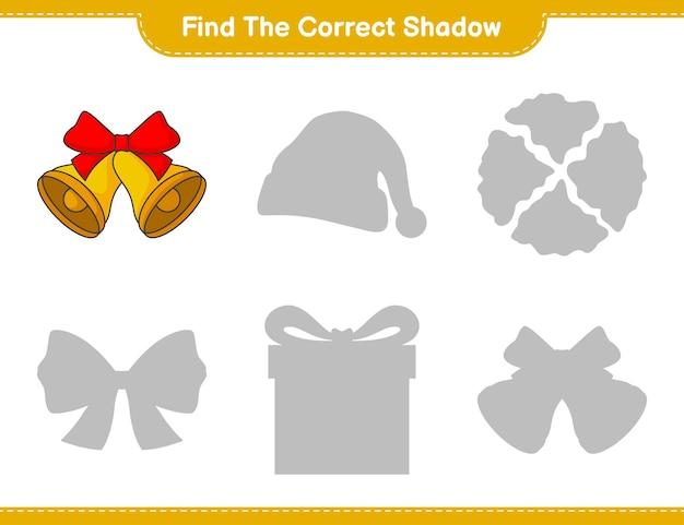 Trova l'ombra corretta trova e abbina l'ombra corretta di christmas bell
