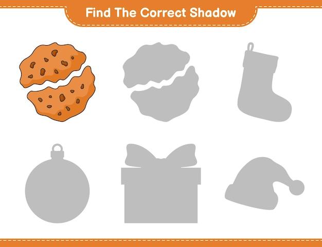 Trova l'ombra corretta trova e abbina l'ombra corretta del gioco per bambini cookie educational