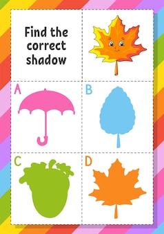 Trova l'illustrazione dell'ombra corretta