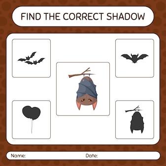 Trova il gioco di ombre corretto con la mazza. foglio di lavoro per bambini in età prescolare, foglio di attività per bambini