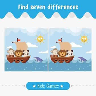 Trova le differenze nelle immagini, bambini per bambini in età prescolare