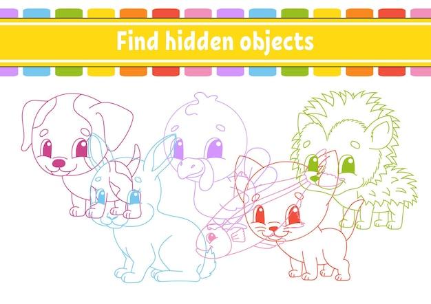 Trova oggetti nascosti foglio di lavoro per lo sviluppo dell'istruzione