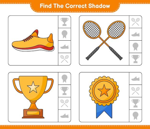 Trova e abbina l'ombra corretta delle scarpe da corsa trophy e delle racchette da badminton