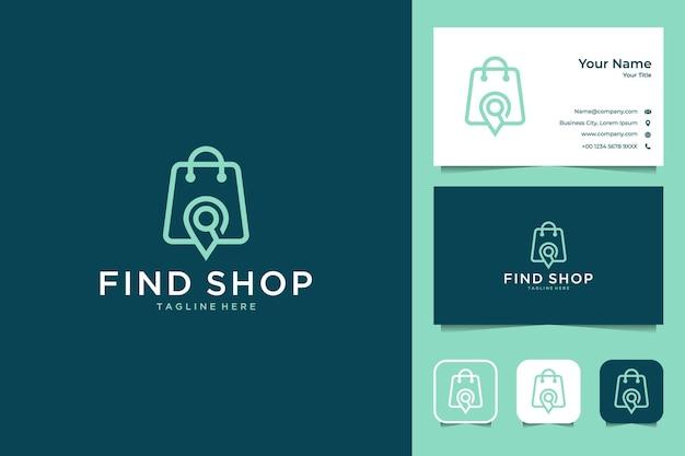 Trova il design del logo e il biglietto da visita del negozio e della posizione
