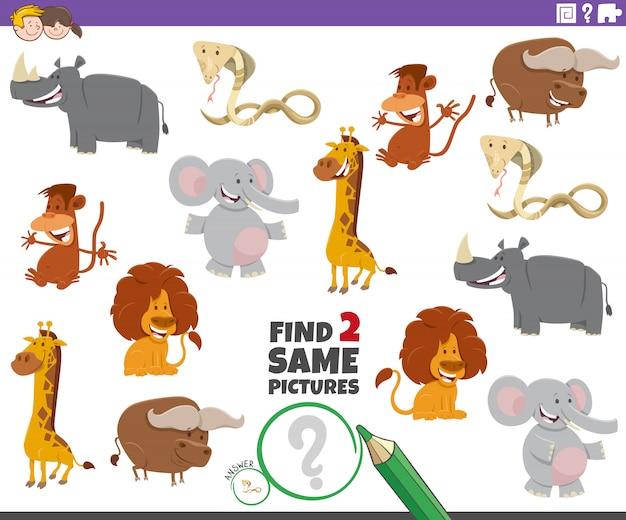 Trova due giochi con gli stessi animali per bambini