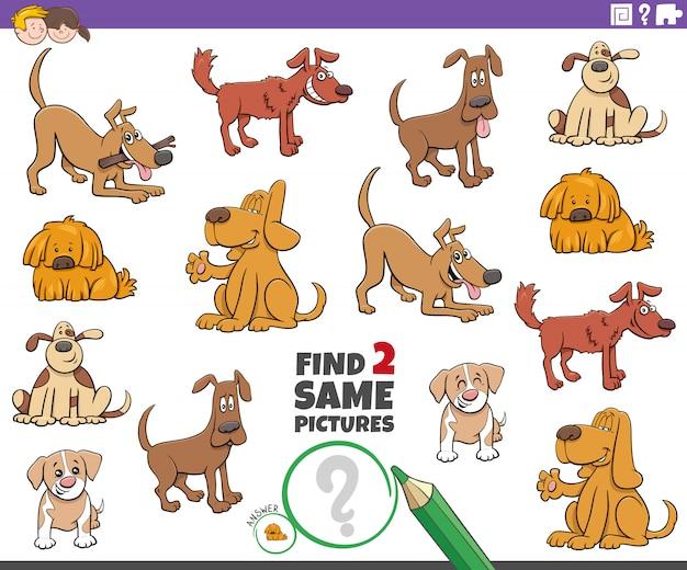 Trova due giochi con lo stesso cane per bambini