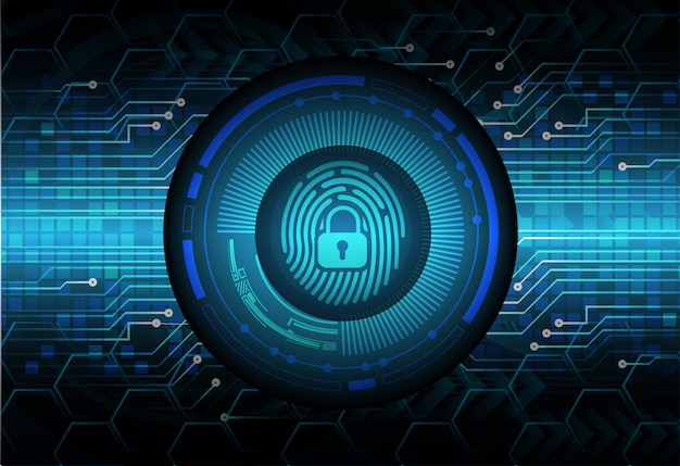 Sfondo di sicurezza informatica della rete di impronte digitali