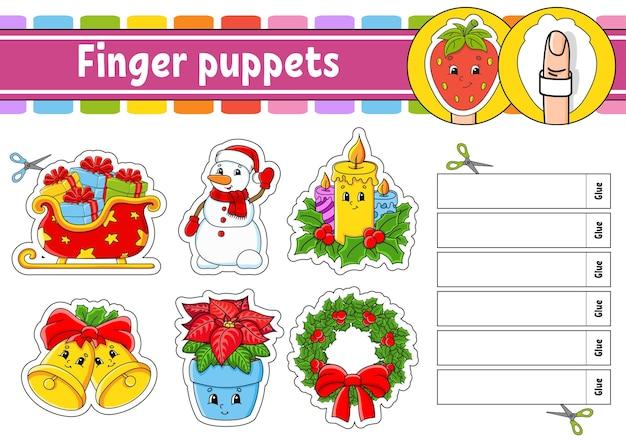 Marionette da dito gioco di attività per bambini tema natalizio