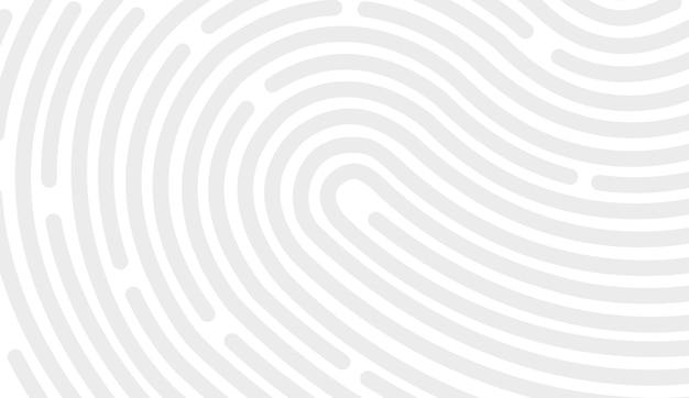 Disegno dell'icona dell'impronta digitale per app e scansione piatta dell'impronta digitale. disegno vettoriale su sfondo bianco.
