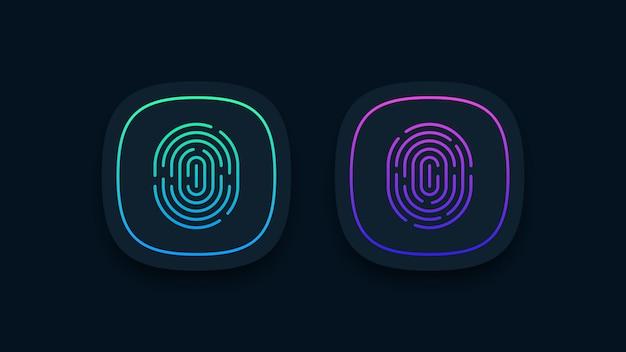 Illustrazione di icone di impronte digitali
