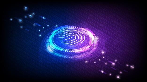 Illustrazione del sensore di identità dell'impronta digitale