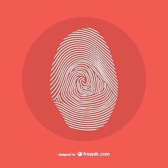 Disegno linea di impronte digitali